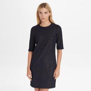 Karl Lagerfeld Novelty Knit Sequin Black Dress 10